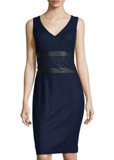 Susana Monaco Sleeveless Wool-Blend Cutout-Detail Dress