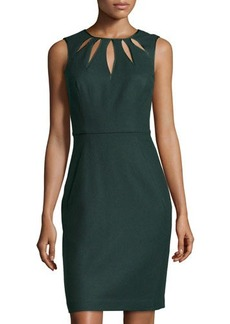 Susana Monaco Sleeveless Wool-Blend Cutout Dress