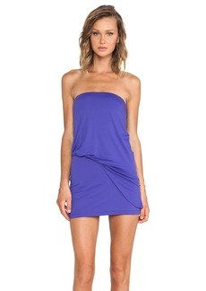 Susana Monaco Strapless Tube Tuck Dress