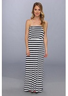 Susana Monaco Striped Blouson Tube Maxi Dress