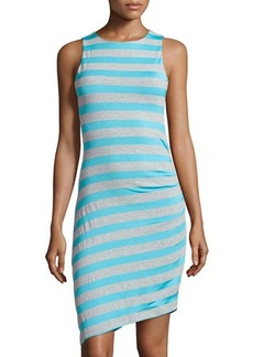 Susana Monaco Striped Gathered-Side Dress