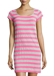 Susana Monaco Striped Short-Sleeve Dress
