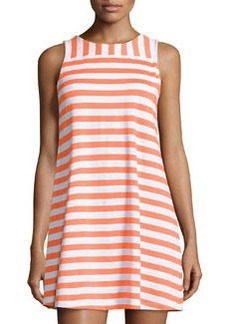 Susana Monaco Striped Sleeveless Shift Dress, Clown Fish/Sugar