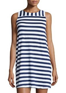 Susana Monaco Striped Sleeveless Shift Dress, Inkwell/Sugar