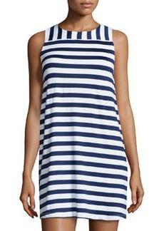Susana Monaco Striped Sleeveless Shift Dress, Inkwell/Sugar