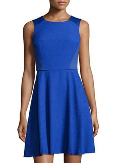 Susana Monaco Textured Sleeveless Fit-and-Flare Dress