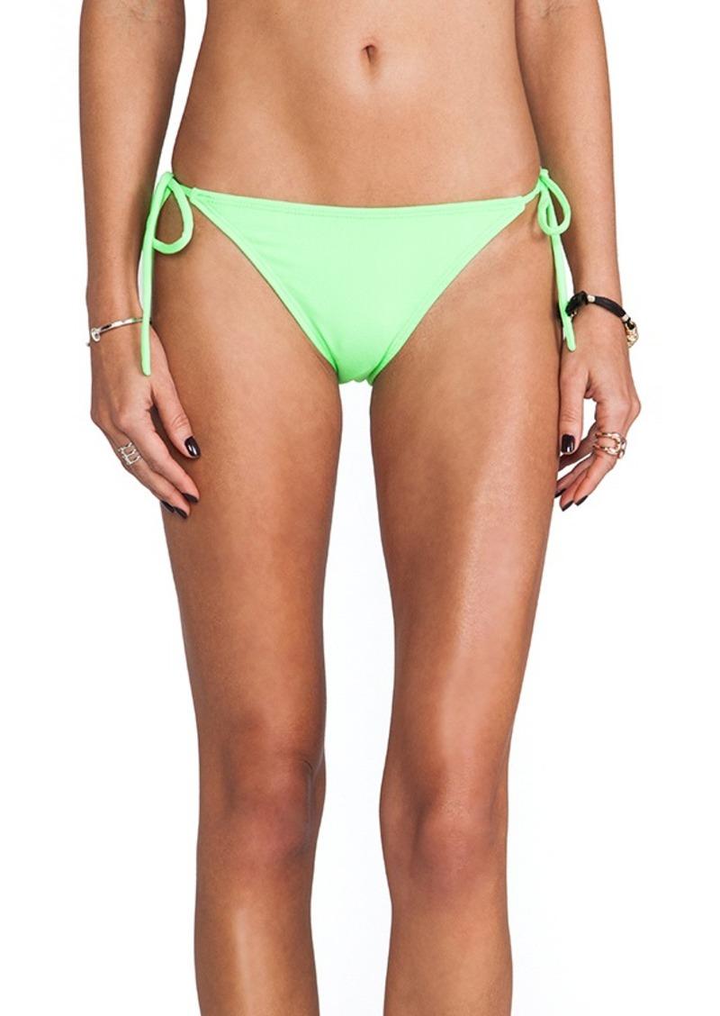 Susana Monaco Tie String Bikini Bottom in Green