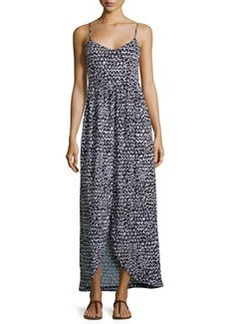Susana Monaco Triangle-Print Sleeveless Maxi Dress, Black