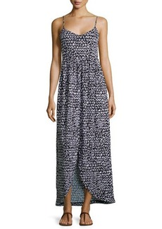 Susana Monaco Triangle-Print Sleeveless Maxi Dress