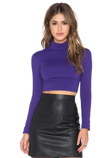 Susana Monaco Turtleneck Crop Top