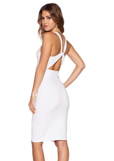 Susana Monaco Twist Back Midi Dress