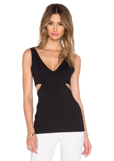 Susana Monaco V Side Cut Out Tank