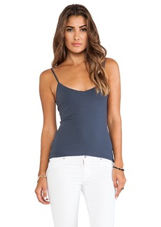 Susana Monaco Very V Neck Tank in Charcoal