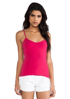 Susana Monaco Very V Neck Tank in Fuchsia