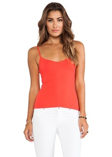 Susana Monaco Very V Neck Tank in Orange