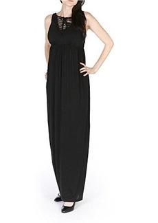 Susana Monaco Womens Black Blair Woven Strappy Maxi Tank Dress XS