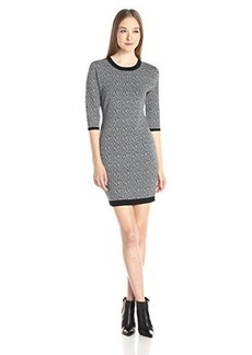 Susana Monaco Women's Celia 18 Inch Sweater Dress, Zinc, Medium