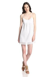 Susana Monaco Women's Circle Embroidery String Eyelet 18 Inch Dress