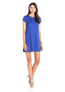 Susana Monaco Women's Crew Flare Dress, Glacier Blue, Medium