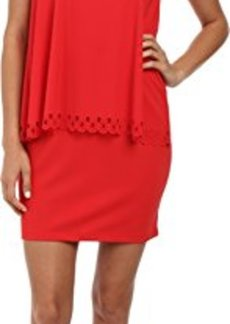 Susana Monaco Women's Crew Overlay Dress Morello Dress LG