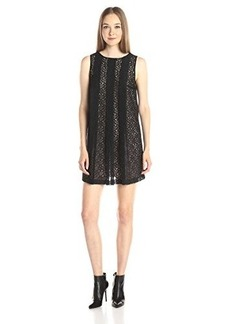 Susana Monaco Women's Dove 17 Inch Lace Dress, Black, 10