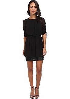 Susana Monaco Women's Drawstring Sleeve Dress Black Dress 2