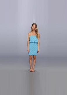 Susana Monaco Women's Emanuella Strapless Dress Turquoise Dress LG