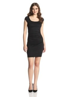 Susana Monaco Women's Light Supplex 19 Inch Cecilia Dress, Black, Large