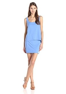 Susana Monaco Women's Light Supplex Alicia 18 Inch Overlay Dress, Neptune, Small