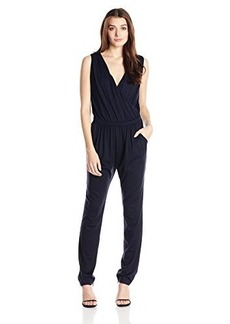 Susana Monaco Women's Light Supplex Front Wrap 32 Inch Jumpsuit