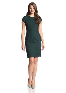Susana Monaco Women's Melange Wool Laser Ingrid Dress