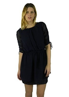 Susana Monaco Womens Midnight Blouson Ruched 3/4 Sleeve Dress 2