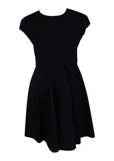 Susana Monaco Womens Midnight Cap Sleeve Wool Blend Flared Dress 2