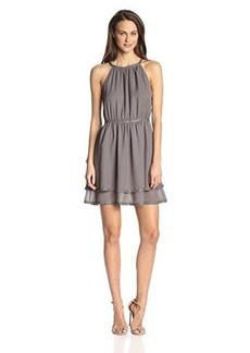Susana Monaco Women's Rhinestone Georgette Cara 18 Inch Dress