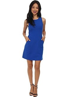 Susana Monaco Women's Sleeveless Pocket Shift Dress Sapphire Dress SM