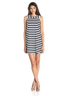 Susana Monaco Women's Stripe Tank Mini 17 Inch Dress, Inkwell/Sugar, Small