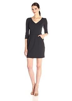 Susana Monaco Women's Supplex Candice 19 Inch Dress, Onyx, X-Small
