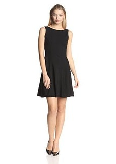 Susana Monaco Women's Supplex Dress,Black,X-Small