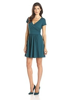 Susana Monaco Women's Supplex Emma 19 Inch Dress, Deep Teal, Large