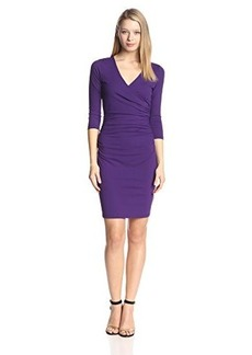 Susana Monaco Women's Supplex Faux-Wrap Dress