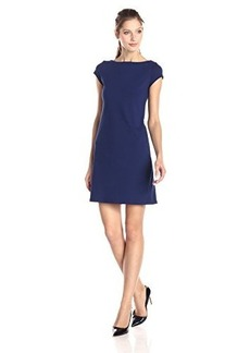Susana Monaco Women's Supplex Hana Short Sleeve 17 Inch Tee Dress, Inkwell, Large