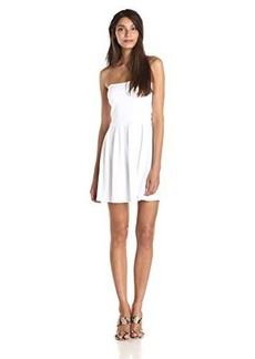 Susana Monaco Women's Supplex Harlow 17 Inch Strapless Flare Dress, Sugar, Small