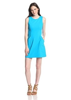 Susana Monaco Women's Supplex Sleeveless Pocket Shift 18 Inch Dress