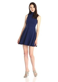 Susana Monaco Women's Supplex Turtle Flared 18 Inch Dress, Inkwell, X-Small