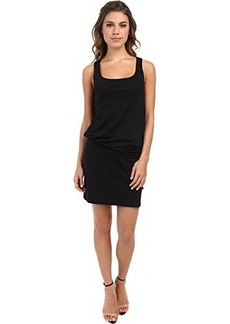 Susana Monaco Women's Tank Tuck Dress Black Dress MD