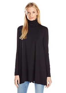 Susana Monaco Women's Turtle Neck Drape Tunic, Black, X-Small