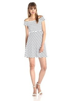 Susana Monaco Women's Vanessa 19 Inch Stripe Dress, Inkwell, X-Small