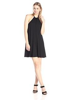 Susana Monaco Women's Vera 18 InchHalter Dress, Black, X-Small