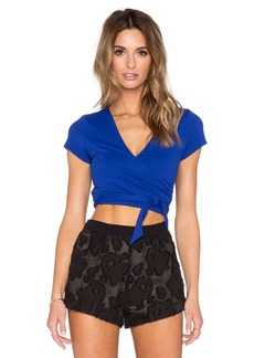 Susana Monaco Wrap Crop Top
