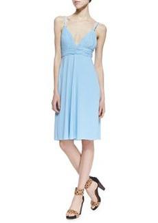 T Bags Ballet Cutout-Back Braided Dress, Light Blue